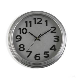 Sivé nástenné hodiny Versa In Time, ⌀32,7 cm