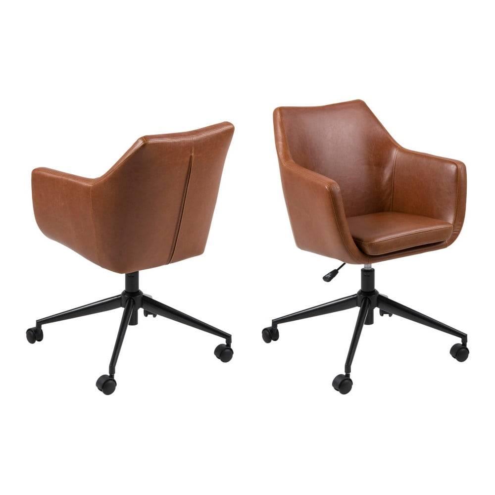 Hnedá kancelárska stolička ...