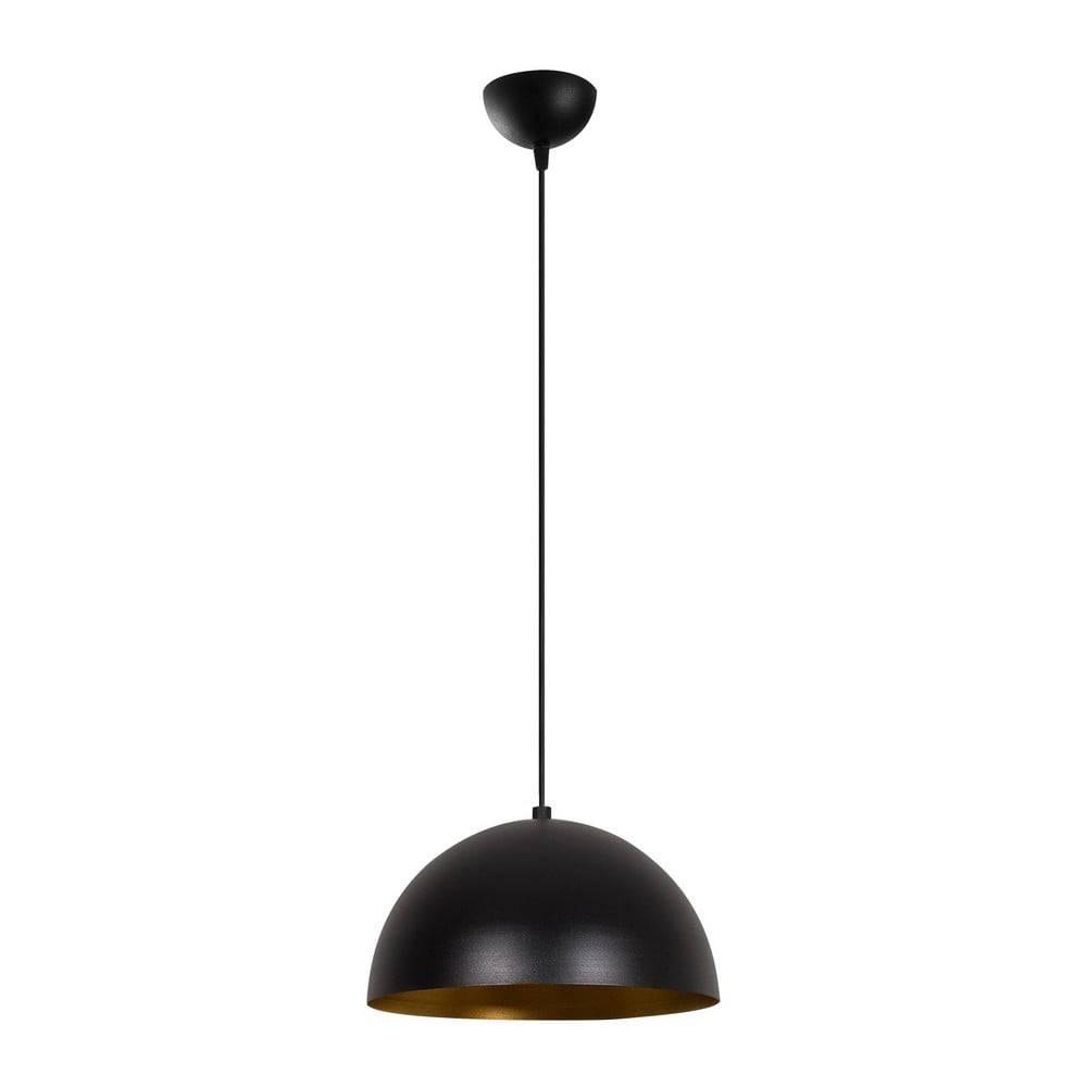 Opviq lights Čierne závesné svietidlo Opviq lights Silvani