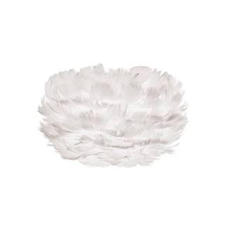Biele tienidlo z husieho peria UMAGE EOS, Ø22 cm