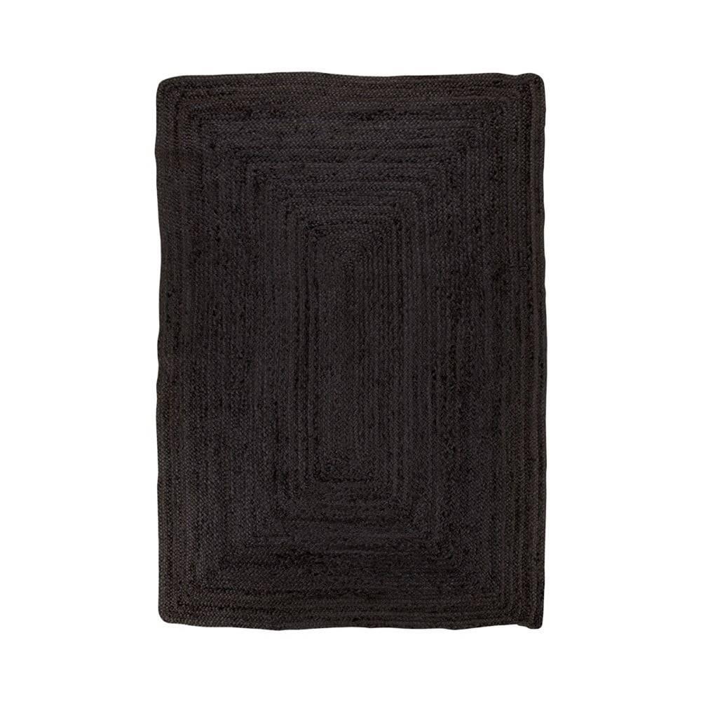 House Nordic Čierny koberec HoNordic Bombay Rug, 135 x 65 cm
