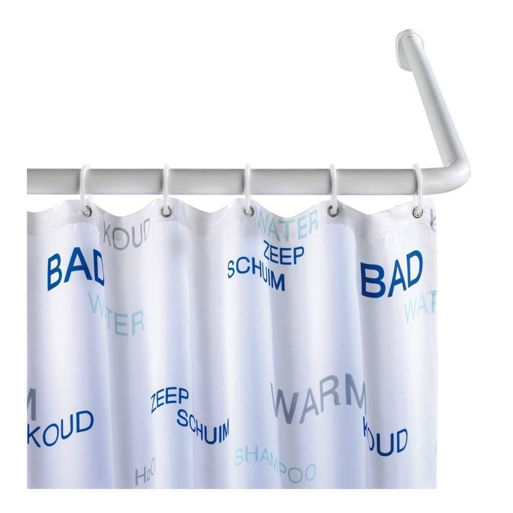 Wenko Biela univerzálna rohová tyč na sprchový záves Wenko, ø 2,8 cm