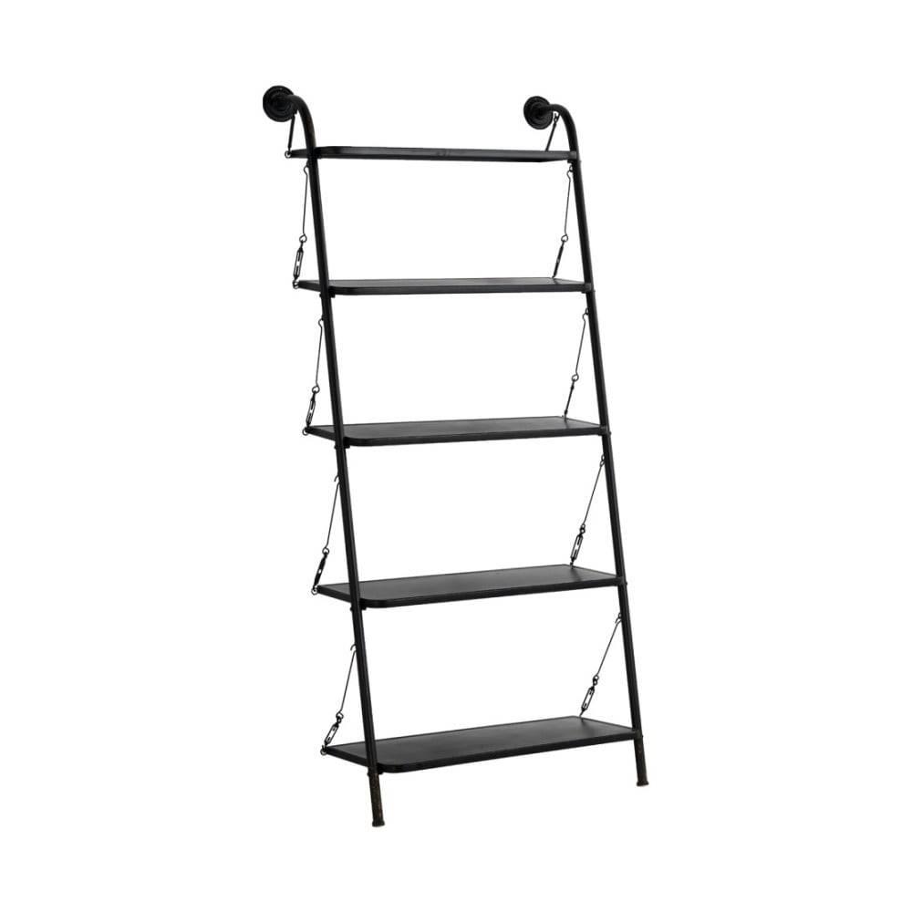 Geese Čierny kovový rebrík s 5 stupienkami Geese Gerome