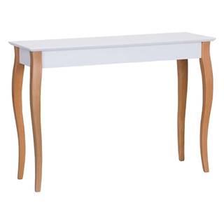 Biely odkladací stolík Ragaba Console, dĺžka 105 cm