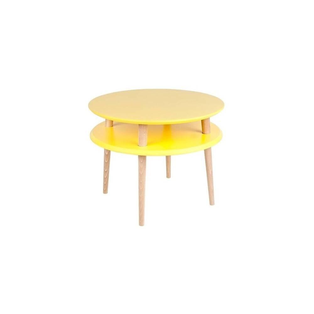 Ragaba Žltý konferenčný stolík Ragaba UFO, ⌀ 57 cm