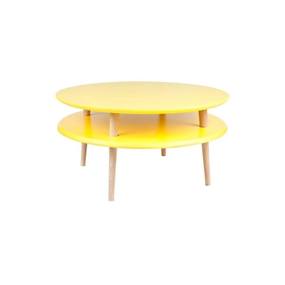 Ragaba Žltý konferenčný stolík Ragaba UFO, ⌀70 cm