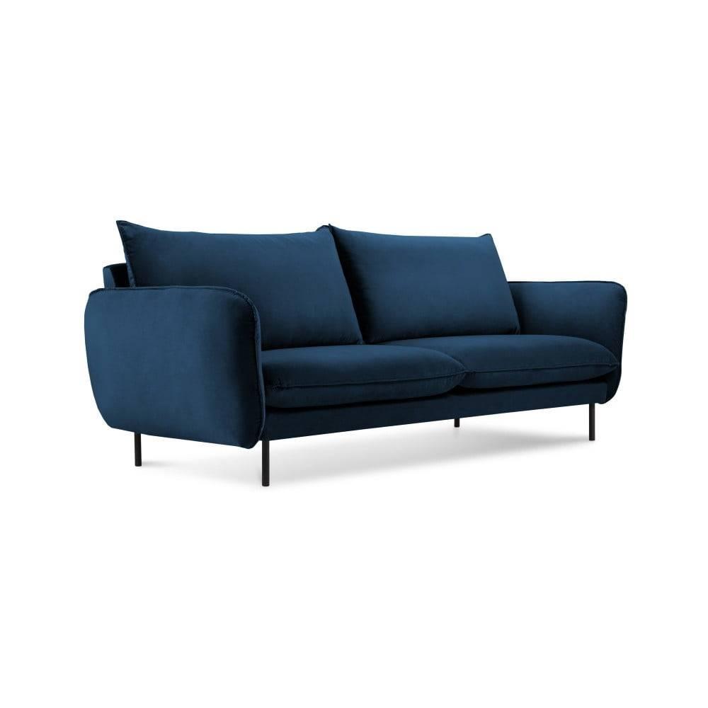 Cosmopolitan Design Modrá zamatová pohovka Cosmopolitan Design Vienna, 160 cm