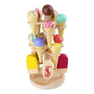 Set drevených zmrzlín na hranie so stojanom Legler Ice Stand
