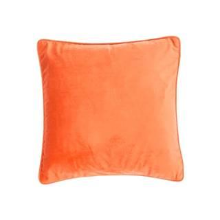 Oranžový vankúš Tiseco Home Studio Velvety, 45 x 45 cm