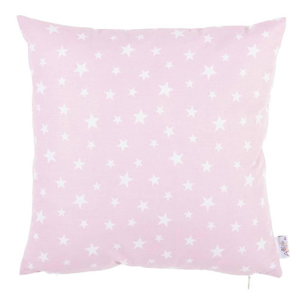 Apolena Ružová bavlnená obliečka na vankúš Mike&Co.NEWYORK Mirro, 35 x 35 cm