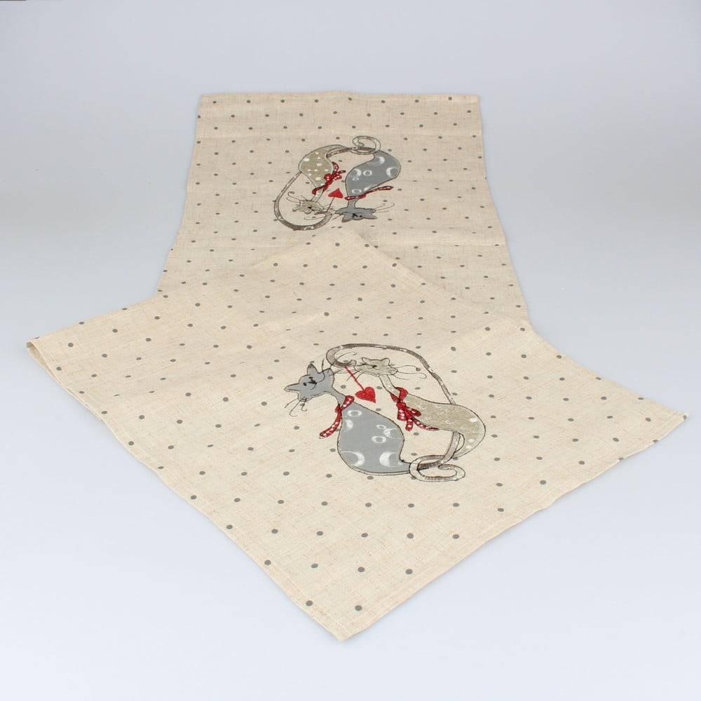 Dakls Behúň na stôl Dakls Cats, 140 x 33 cm