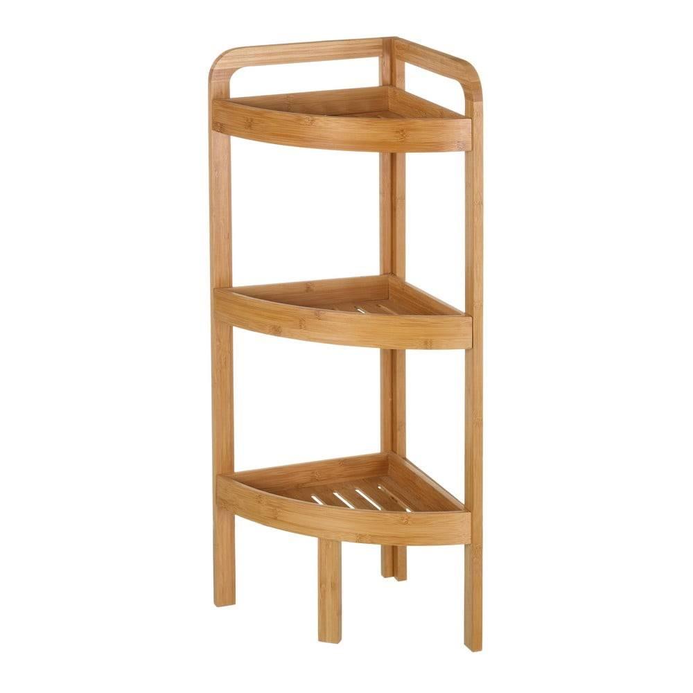 Unimasa Trojposchodový bambusový rohový stojan Unimasa Bamboo