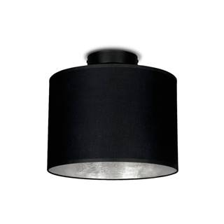 Čierne stropné svietidlo s detailom v striebornej farbe Sotto Luce MIKA, Ø 25 cm