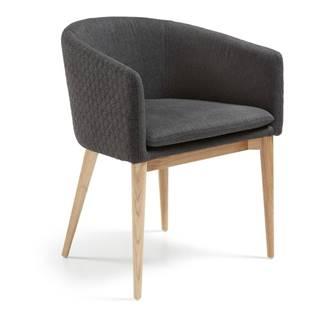 Tmavosivá jedálenská stolička La Forma Harmon
