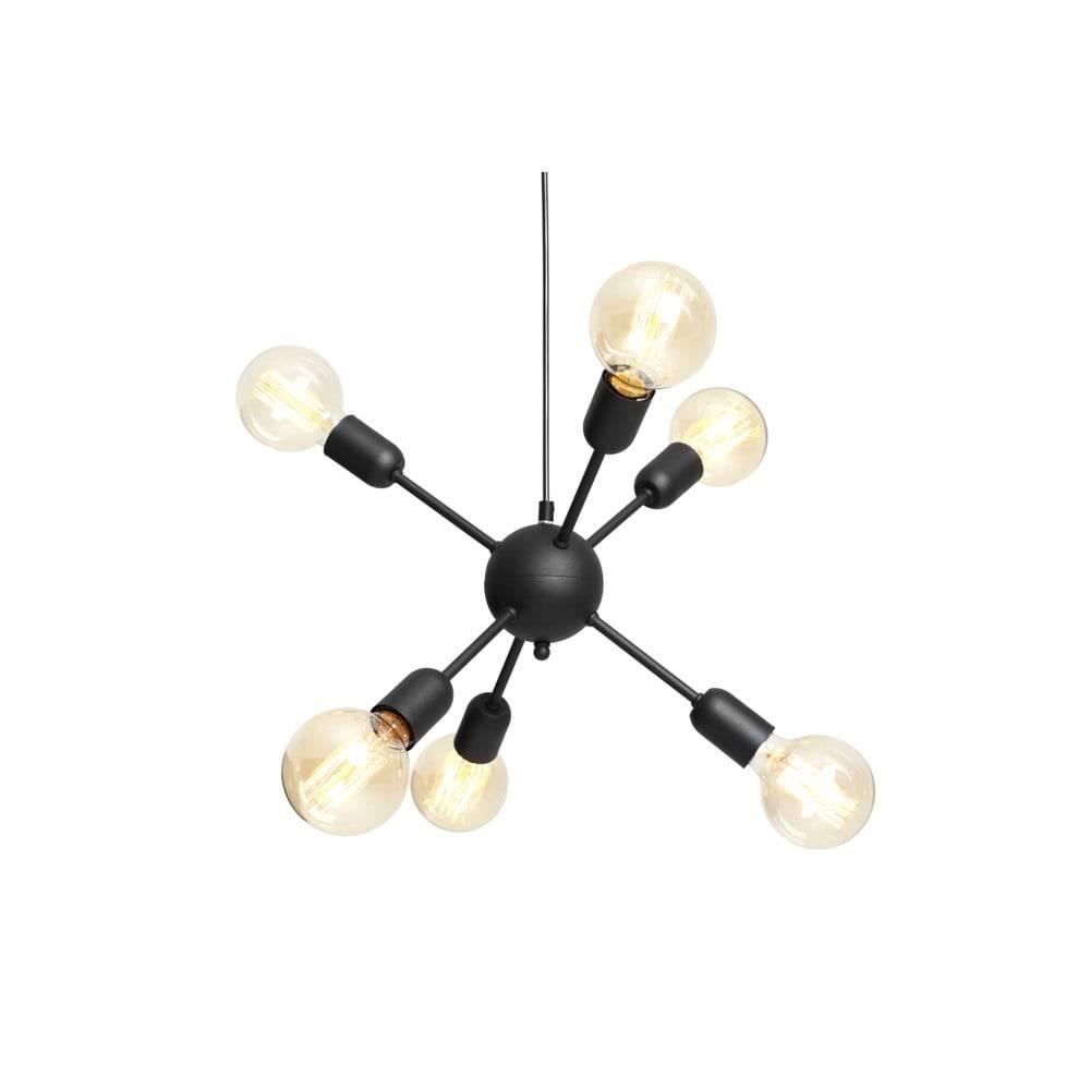 Custom Form Čierne závesné svietidlo na 6 žiaroviek Custom Form Vanwerk Ball