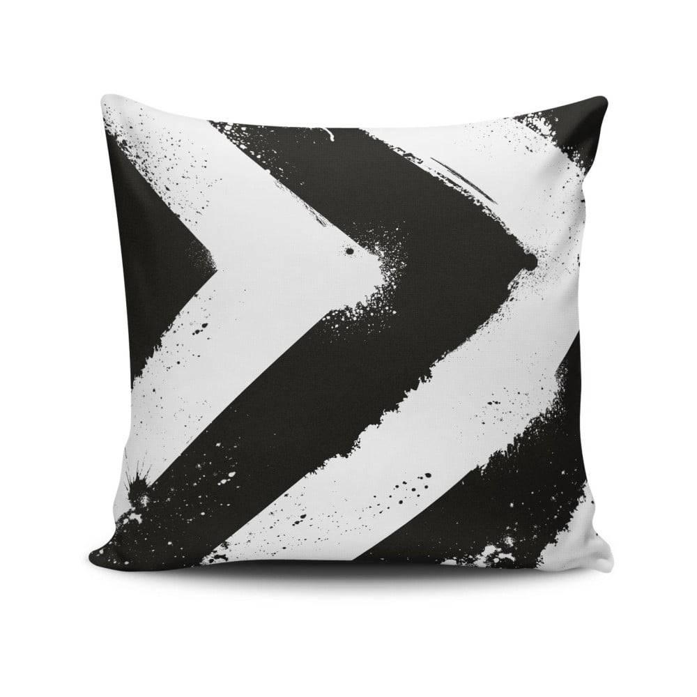 Cushion Love Vankúš s výplňou Gravel B&W Stripes, 42x42cm
