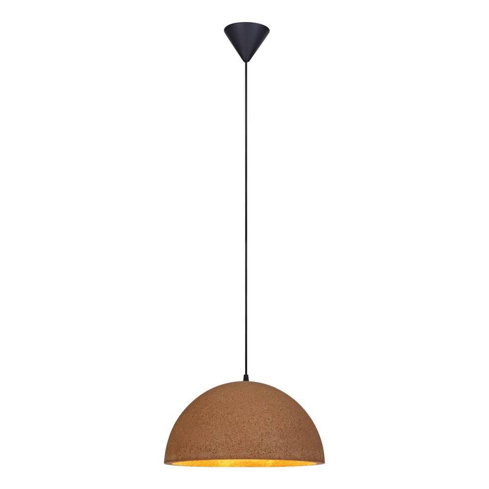 Markslöjd Hnedé stropné svietidlo Markslöjd Cork, dĺžka 40 cm