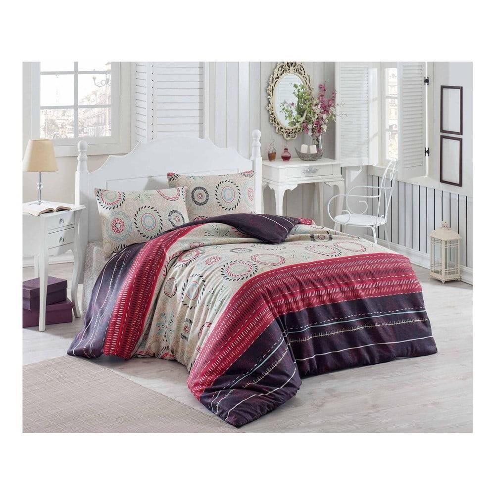 Eponj Home Obliečky s plachtou na dvojlôžko Maroon Aries, 200×220 cm