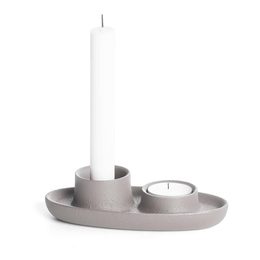 EMKO Svetlosivý svietnik EMKO Aye Aye Two Candles
