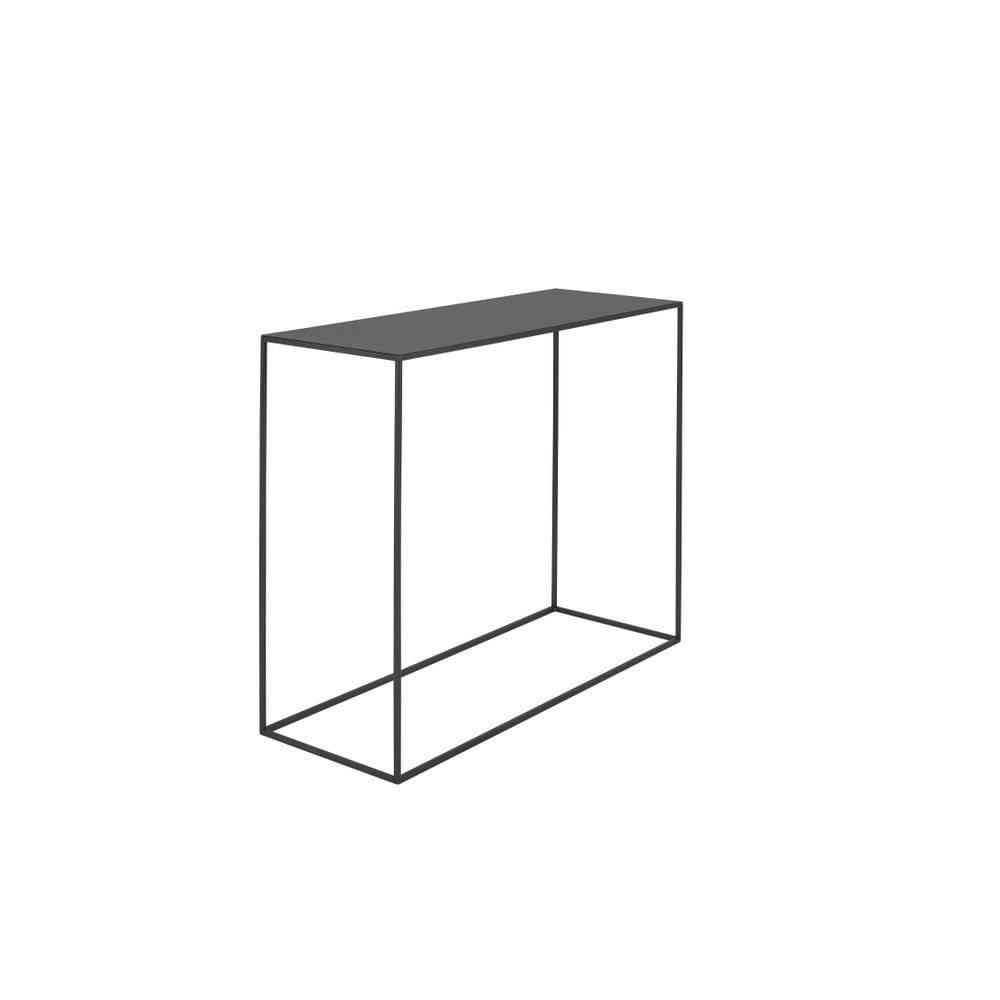 Custom Form Čierny konzolový kovový stôl Custom Form Tensio, 100 x 35 cm