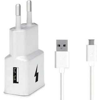 Nabíjačka do siete WG 1xUSB, QC 3.0 + USB-C kabel biela
