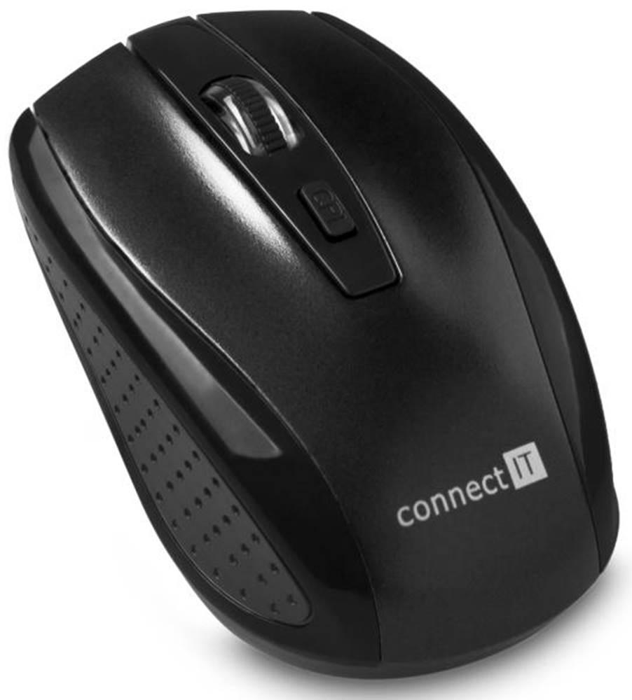 Connect IT Myš  Connect IT CI-1223 čierna / optická / 4 tlačítka / 1600dpi