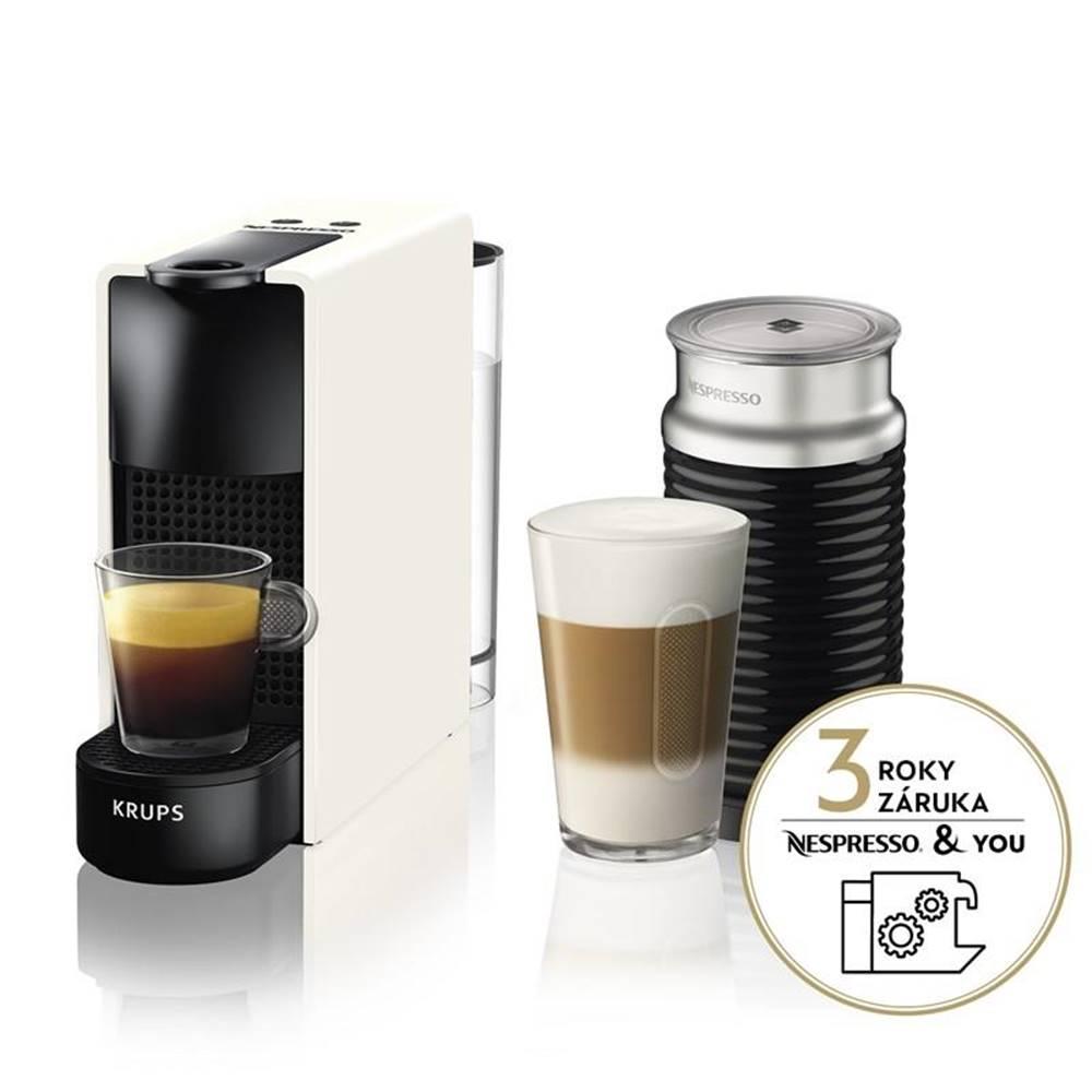 Krups Espresso Krups Nespresso Essenza mini XN111110 & Aeroccino 3 biele