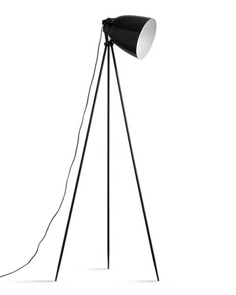 Čierna stajaca lampa Tempo Kondela
