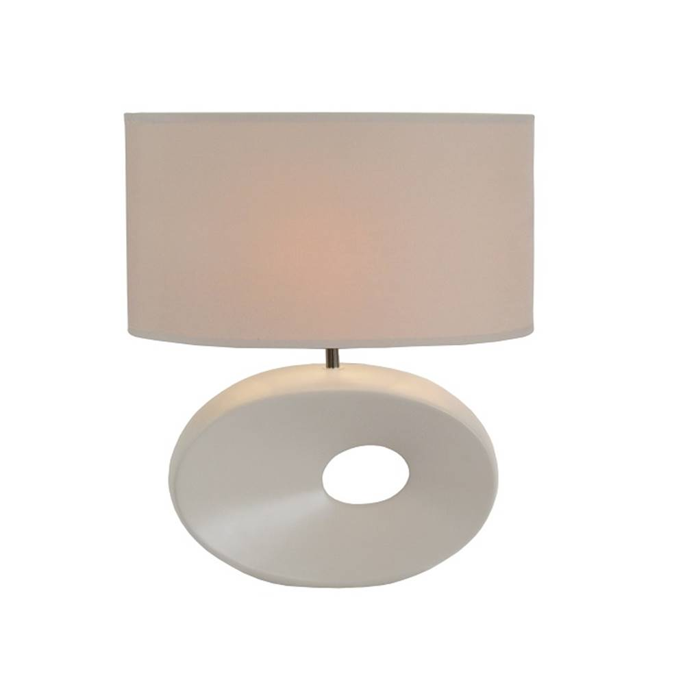 Tempo Kondela Keramická stolná lampa biela QENNY TYP 9 AT09115