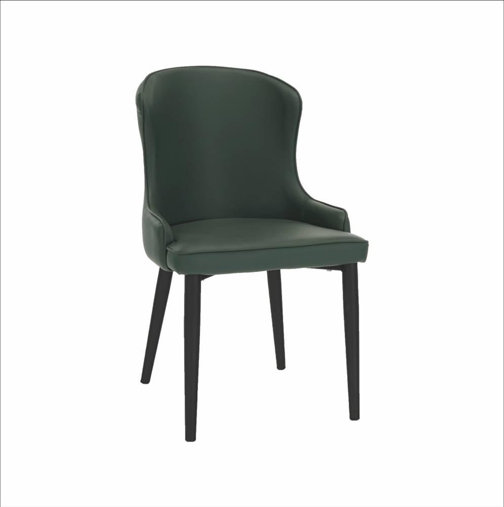 Tempo Kondela Jedálenská stolička zelená/čierna SIRENA rozbalený tovar