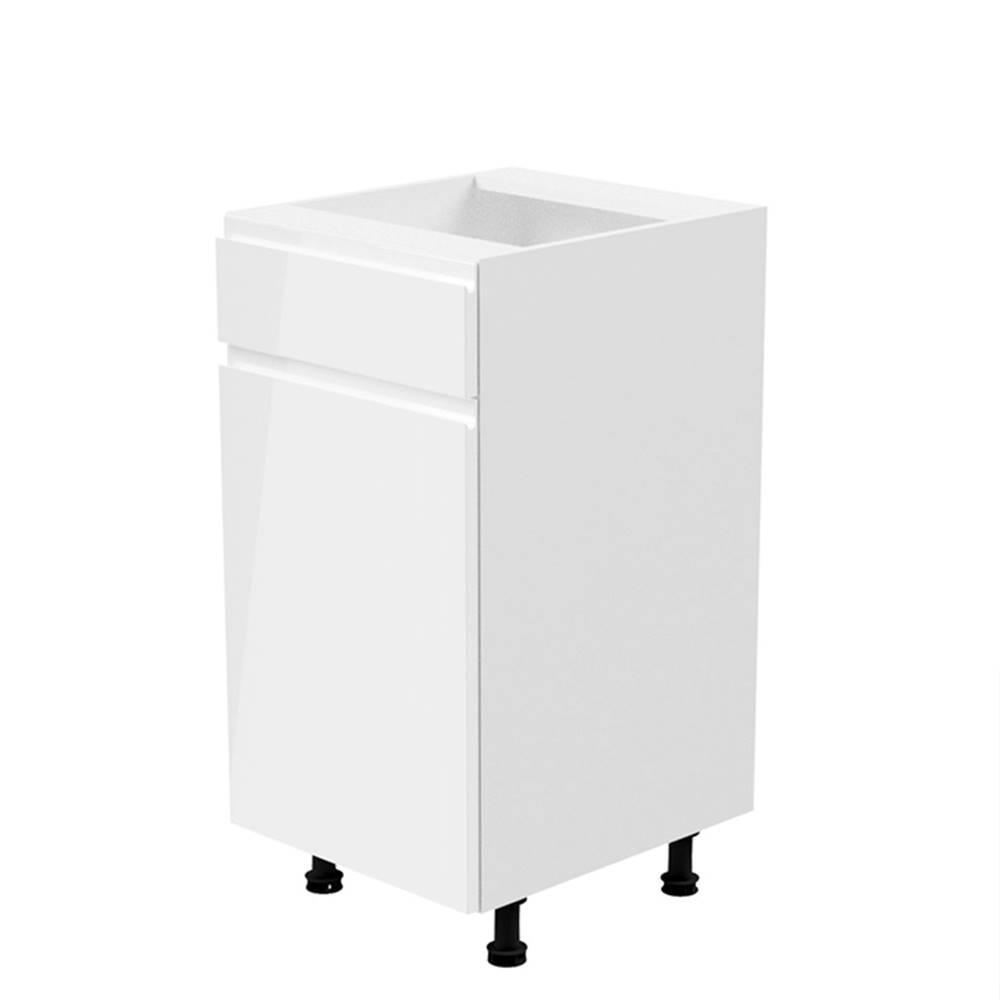 Tempo Kondela Spodná skrinka biela/biela extra vysoký lesk ľavá AURORA D40S1
