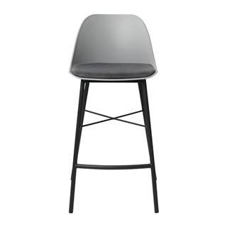 Sivá barová stolička Unique Furniture Whistler