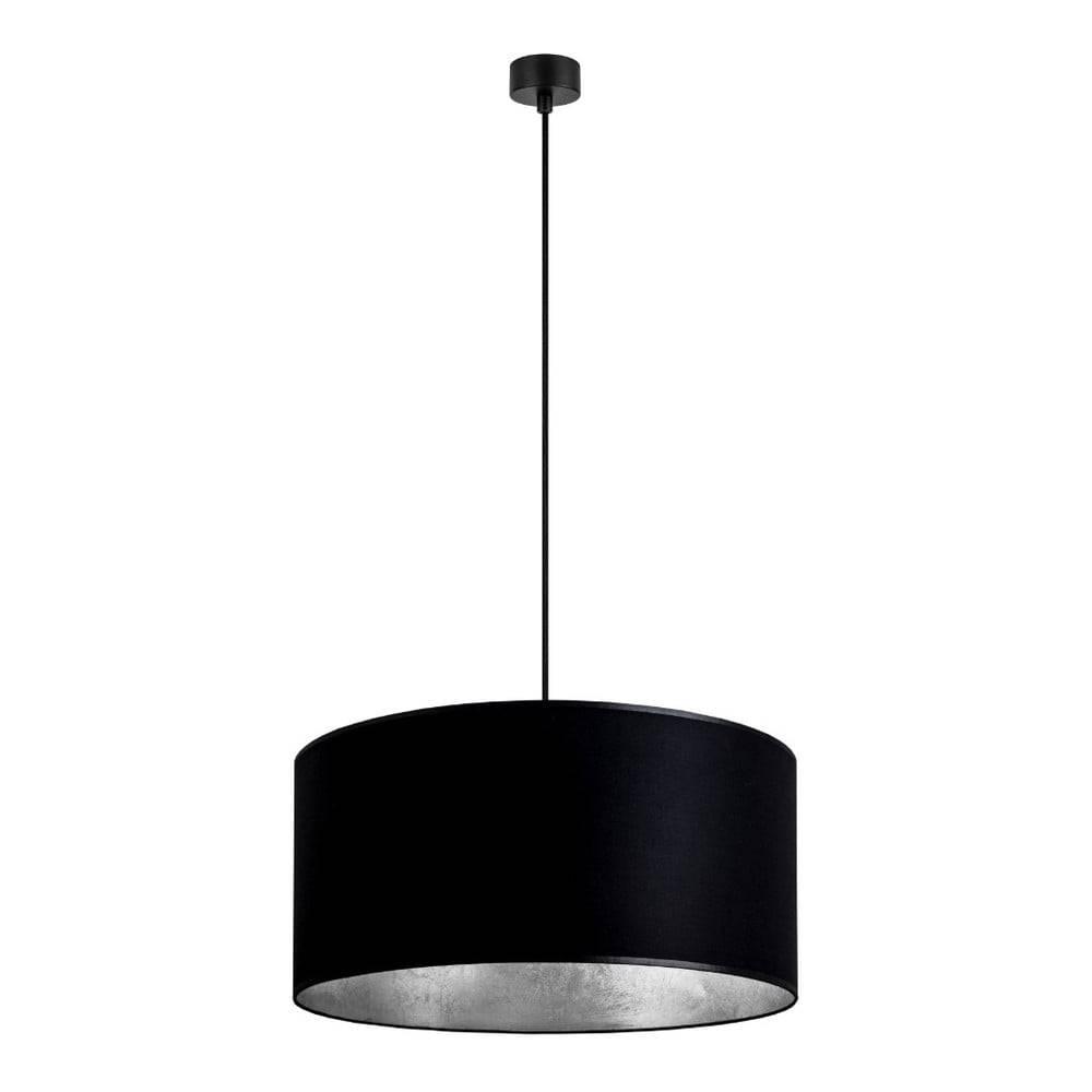 Sotto Luce Čierne stropné svietidlo s vnútrajškom v striebornej farbe Sotto Luce Mika, ∅50 cm