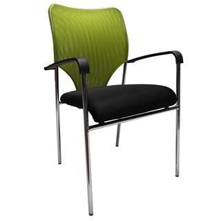 Zasadacia stolička zelená/čierna UMUT