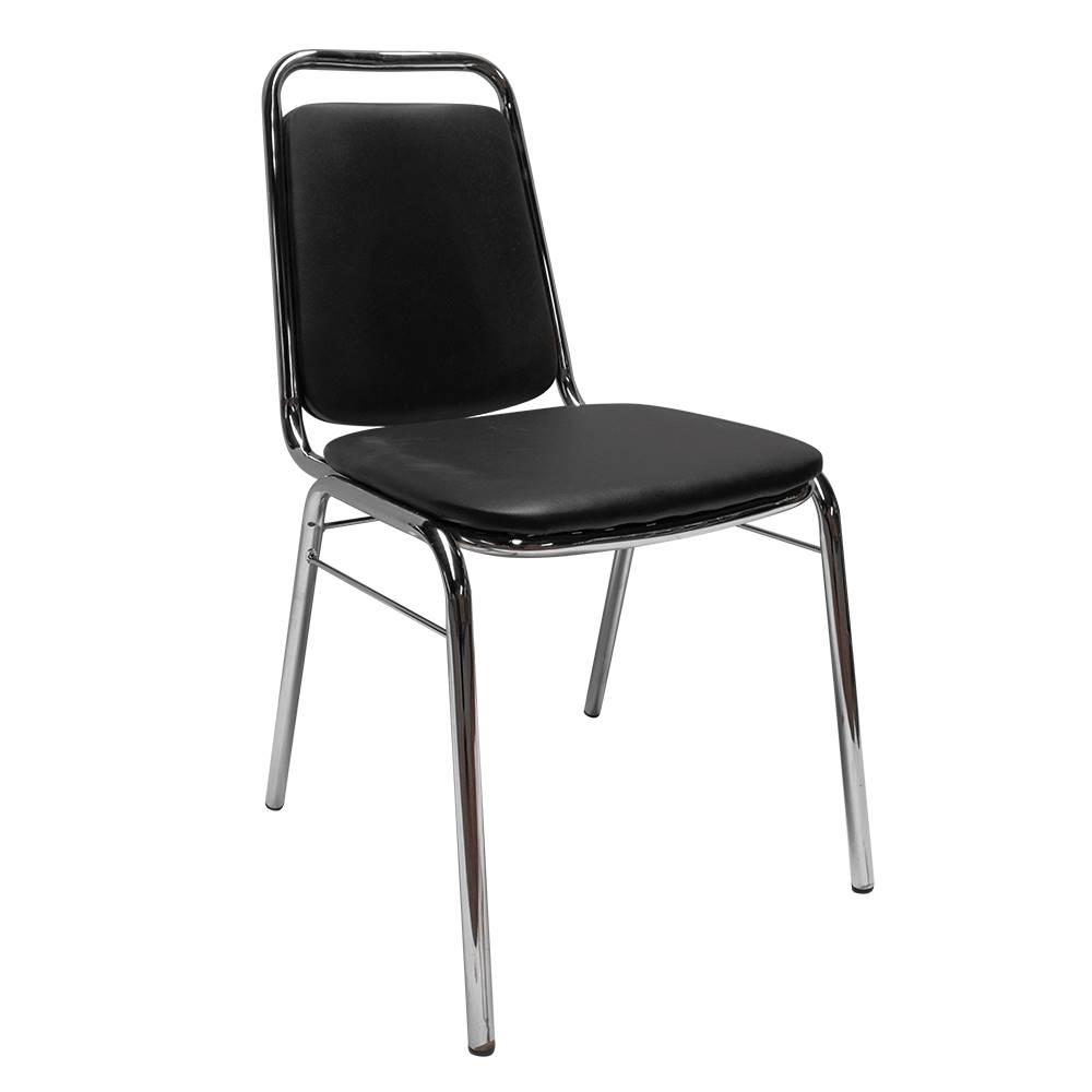 Tempo Kondela Zasadacia stolička čierna ekokoža ZEKI