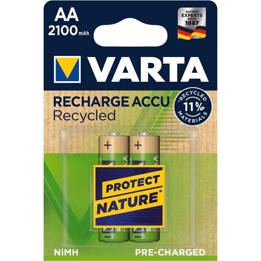 Varta Batéria nabíjacie Varta Recycled HR06, AA, 2100mAh, Ni-MH, blistr