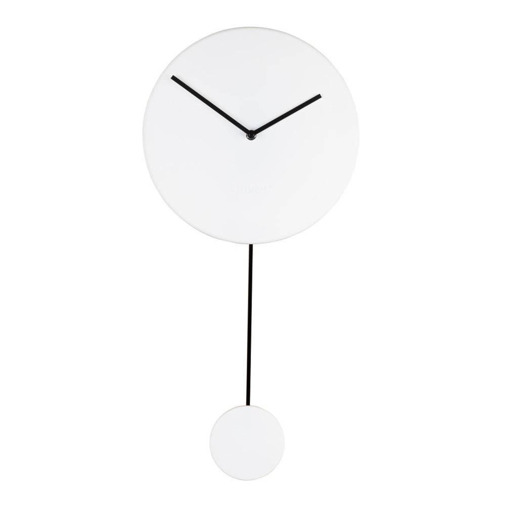 Zuiver Biele nástenné hodiny Zuiver