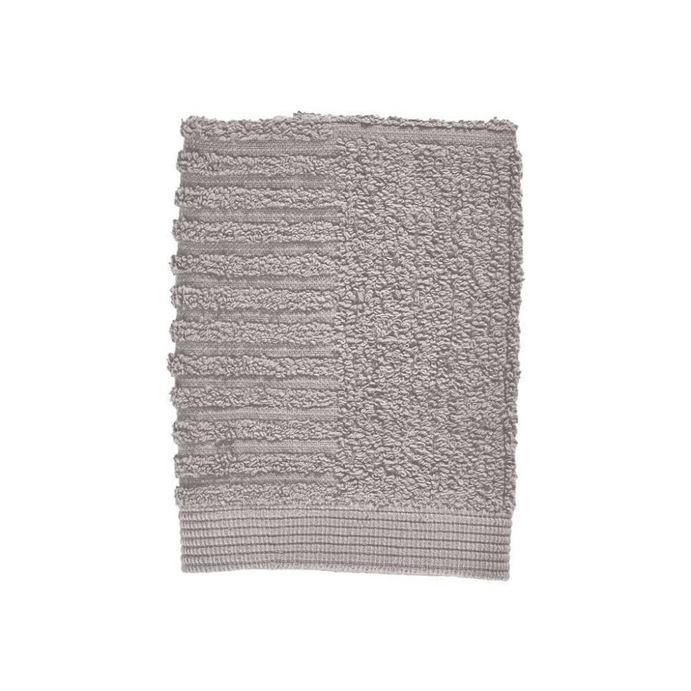 Zone Sivý uterák zo 100% bavlny na tvár Zone Classic Gull Grey, 30×30 cm