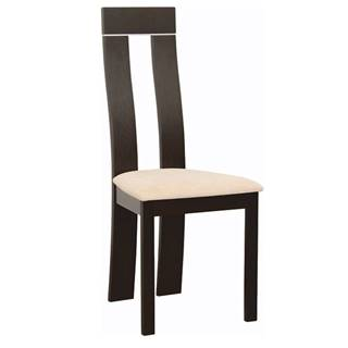 Drevená stolička wenge/látka béžová DESI NEW