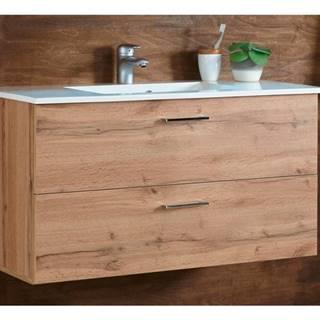 Umývadlová skrinka s umývadlom BEST dub divoký