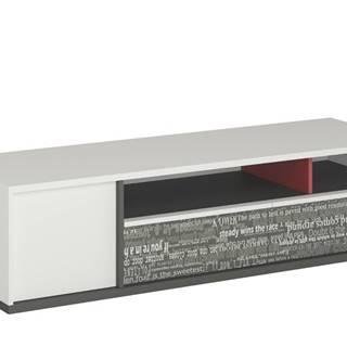 TV komoda PHILOSOPHY PH-13 biela/grafit