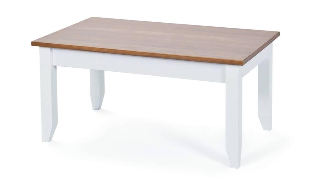Sconto Konferenčný stolík WESLEY borovica biela/hnedá