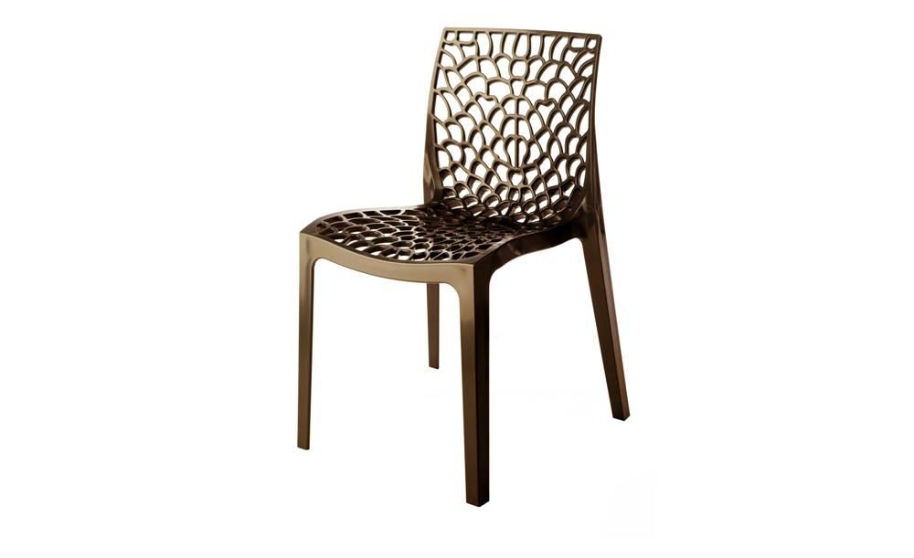 Sconto Jedálenská stolička GRUVYER hnedá